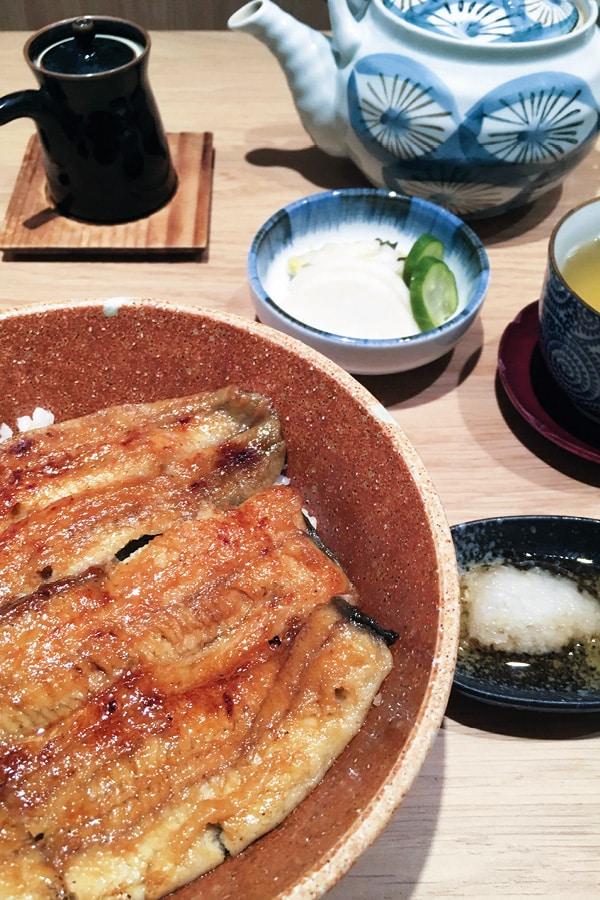 anguilles unagi cuisine japonaise à Paris