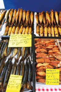 poissons amsterdam marché étal
