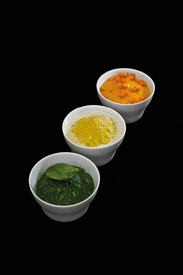 polenta purée légumes