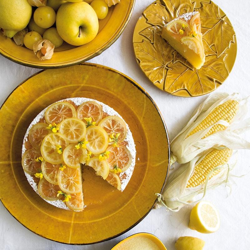 gâteau semoule maïs citron