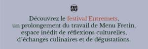 festival entremets