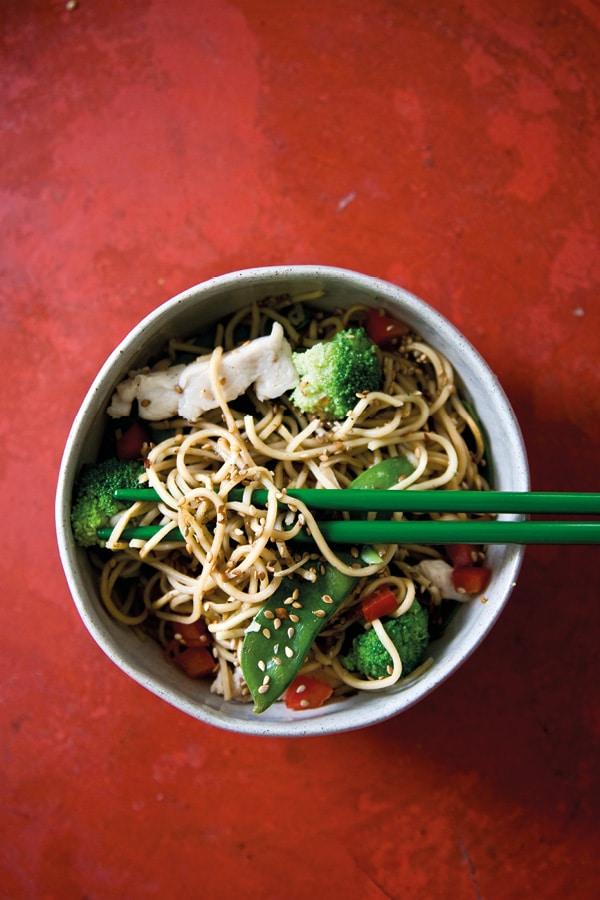nouilles chinoises recette