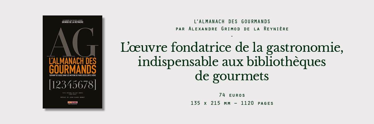 almanach des gourmands grimod reynière
