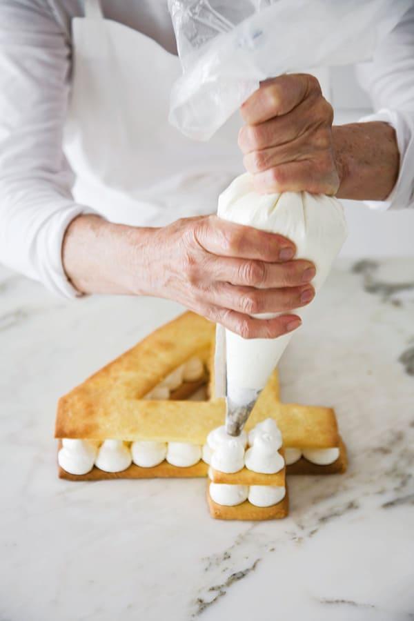 number cake crème